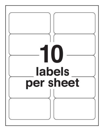 10 Up Blank Shipping Labels Avery 8163 Template Iworkcommunity