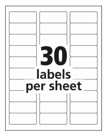 30 Up Address Labels Avery Us Iworkcommunity