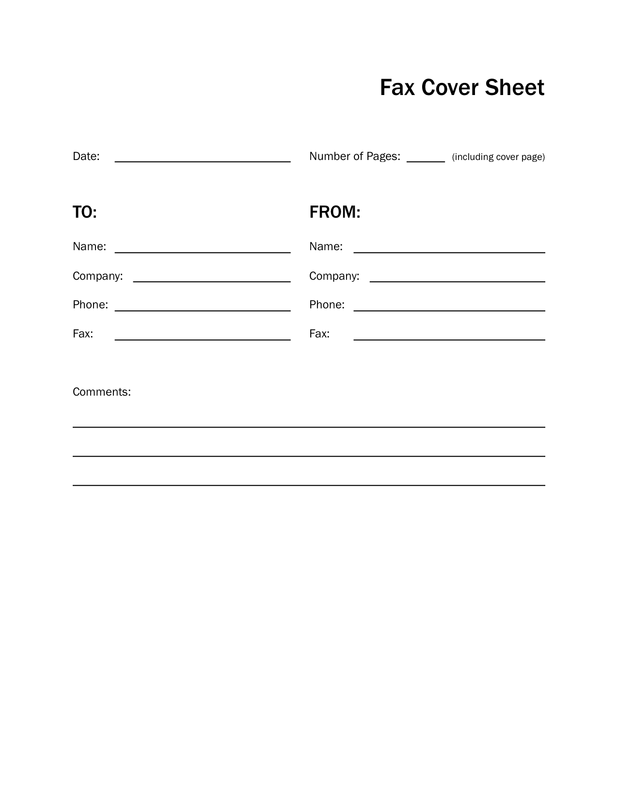 Basic Black And White Fax Cover Sheet O IWorkCommunity