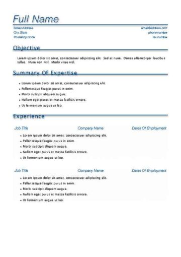 blue accent resume with cover page iworkcommunity