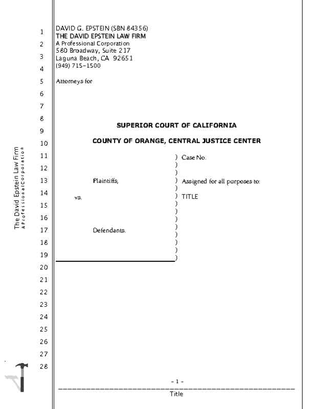 California Legal Transcript with 2 Cover Pages • iWorkCommunity