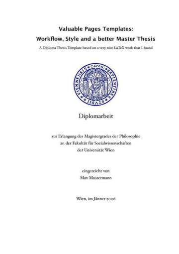 Collegiate Thesis Paper with Quotes (German) • iWorkCommunity