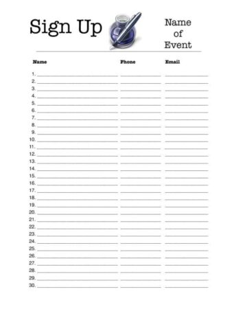 Portrait 30-Person Sign-Up Sheet • iWorkCommunity